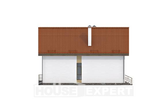 170-009-R Two Story House Plans and mansard with garage in front, classic Architectural Plans