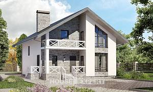 155-001-L Two Story House Plans and mansard and garage, best house Floor Plan
