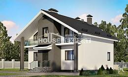 150-005-L Two Story House Plans and mansard, compact House Planes