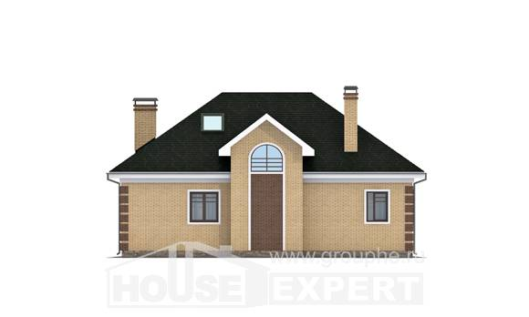 150-013-L Two Story House Plans and mansard, small Design Blueprints