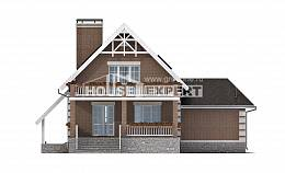 200-009-L Three Story House Plans with mansard roof and garage, spacious Blueprints