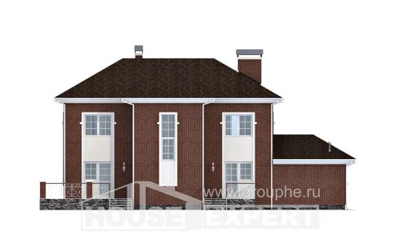 180-006-L Two Story House Plans with garage, classic Home House