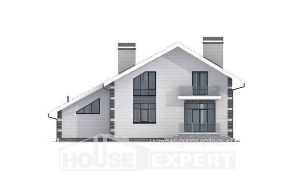 180-001-R Two Story House Plans with mansard roof with garage, cozy Planning And Design
