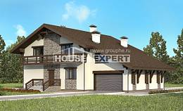 280-001-R Two Story House Plans with mansard roof with garage, best house Cottages Plans