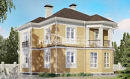 160-001-L Two Story House Plans, economical Woodhouses Plans