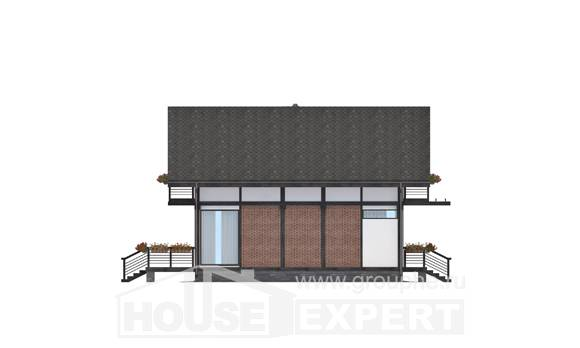 170-007-R Two Story House Plans with mansard, economical Architectural Plans