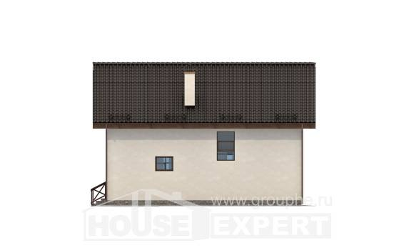 170-002-R Two Story House Plans with mansard, beautiful Architect Plans