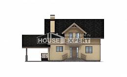 150-011-L Two Story House Plans with mansard roof with garage, inexpensive Timber Frame Houses Plans