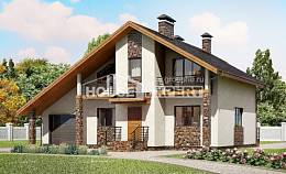 180-008-L Two Story House Plans with mansard and garage, classic House Plans,