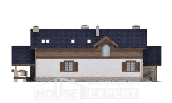 280-003-L Two Story House Plans and mansard with garage, luxury Home Plans