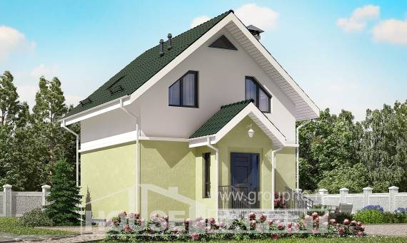 070-001-R Two Story House Plans with mansard roof, little Tiny House Plans