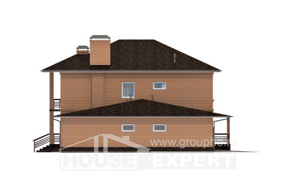 245-003-L Two Story House Plans with garage under, best house Architectural Plans