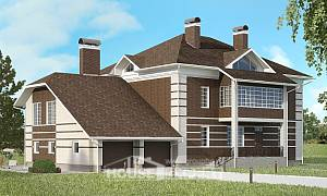 505-002-L Three Story House Plans with garage under, best house Architectural Plans
