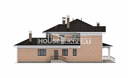 520-001-R Three Story House Plans, cozy Home Blueprints
