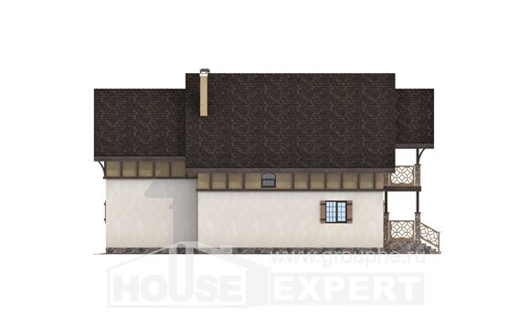 180-014-L Two Story House Plans and mansard, classic Construction Plans