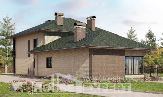 305-003-R Two Story House Plans, a huge Home Plans