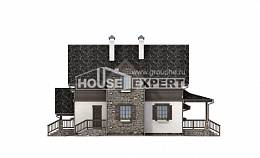 160-002-L Two Story House Plans with mansard with garage in back, best house House Planes