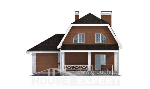 160-006-R Two Story House Plans and mansard with garage in back, best house Home Blueprints