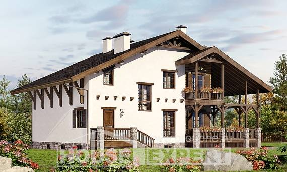 400-004-R Three Story House Plans and mansard and garage, modern Timber Frame Houses Plans