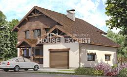 200-003-R Two Story House Plans with garage in front, cozy Blueprints of House Plans