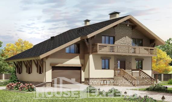 420-001-L Three Story House Plans with mansard with garage under, best house Blueprints of House Plans