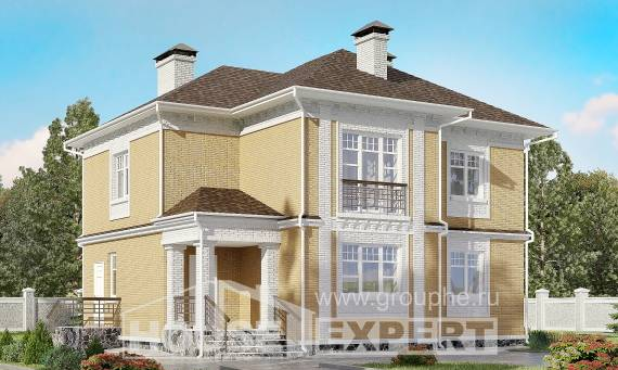 160-001-L Two Story House Plans, compact Blueprints of House Plans