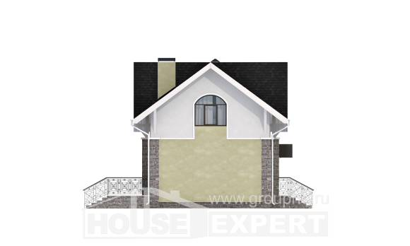 150-012-R Two Story House Plans with mansard, classic Blueprints
