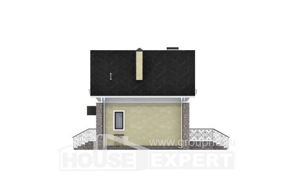 150-012-R Two Story House Plans with mansard, modern House Building