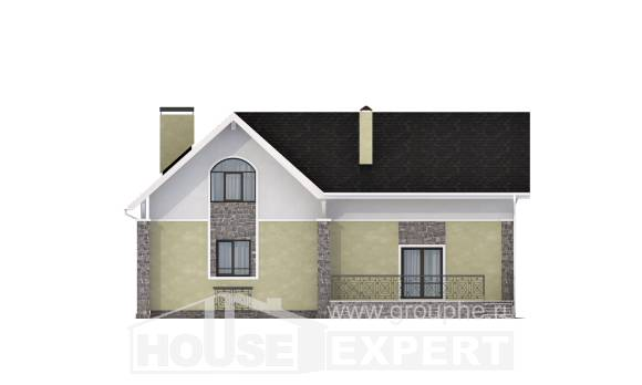 150-012-R Two Story House Plans with mansard, the budget Planning And Design