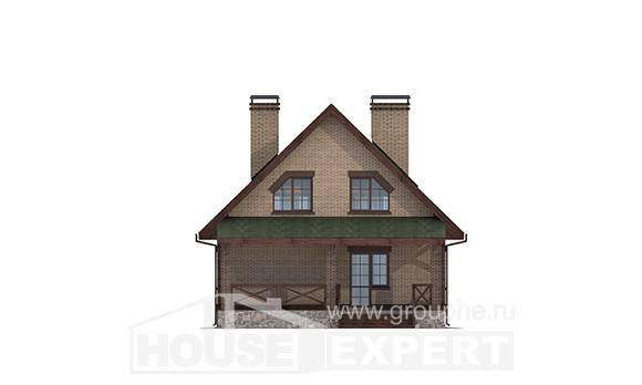 160-011-R Two Story House Plans with mansard roof, economical House Planes