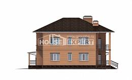 245-003-L Two Story House Plans and garage, average Planning And Design