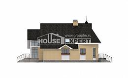250-001-L Two Story House Plans with mansard with garage, luxury Custom Home Plans Online