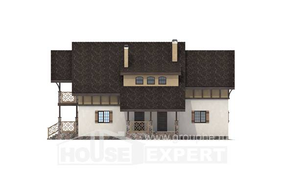180-014-L Two Story House Plans and mansard, economical Design House