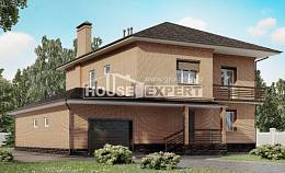 245-003-L Two Story House Plans with garage in front, average House Plans