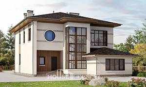 345-001-R Two Story House Plans, cozy Design Blueprints