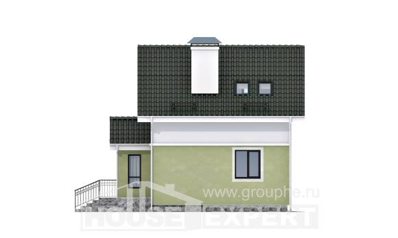 070-001-R Two Story House Plans with mansard roof, cheap Planning And Design