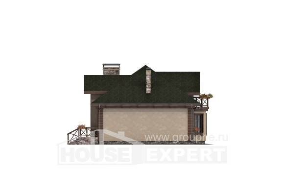 180-010-R Two Story House Plans with mansard roof with garage in back, a simple Ranch