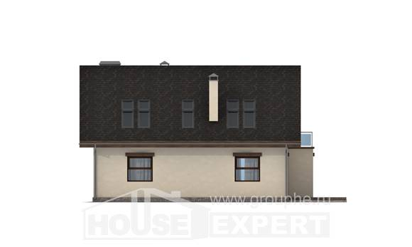 155-012-L Two Story House Plans with mansard roof, beautiful Plans To Build