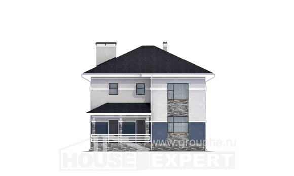 150-014-L Two Story House Plans, the budget Woodhouses Plans
