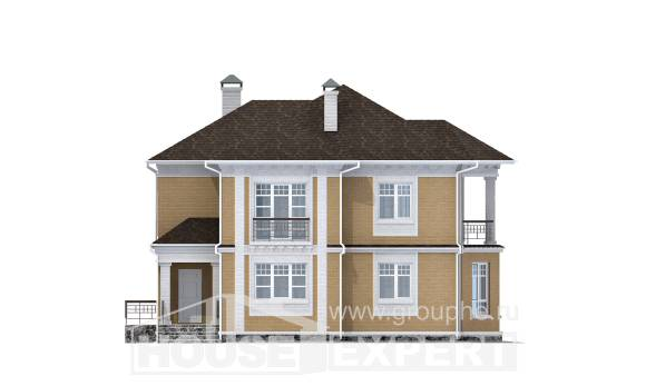 160-001-L Two Story House Plans, a simple House Planes
