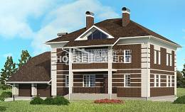 505-002-L Three Story House Plans and garage, beautiful Floor Plan