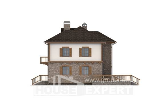 155-006-L Two Story House Plans with garage, the budget Custom Home Plans Online