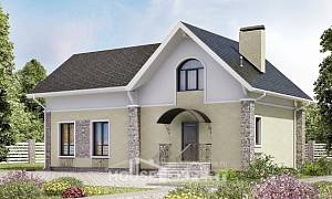 150-012-R Two Story House Plans with mansard roof, the budget Home Blueprints