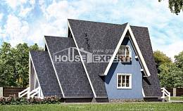100-002-R Two Story House Plans and mansard, available Cottages Plans