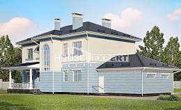 285-003-L Two Story House Plans with garage under, luxury Blueprints