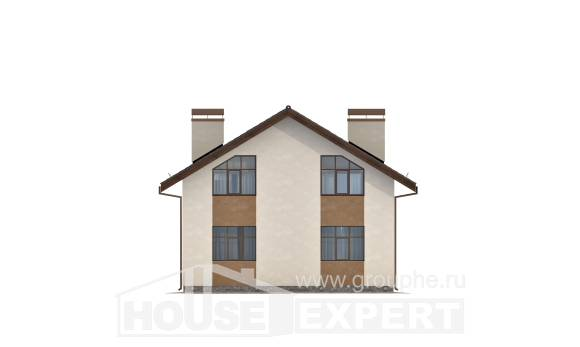 170-002-R Two Story House Plans with mansard, best house Planning And Design