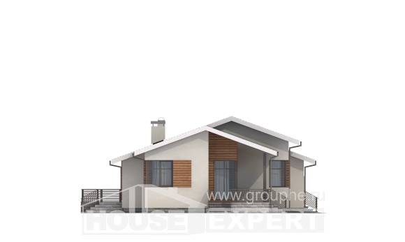 135-002-R One Story House Plans with garage, a simple Custom Home