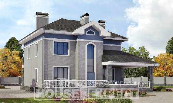 200-006-L Two Story House Plans, average Blueprints of House Plans