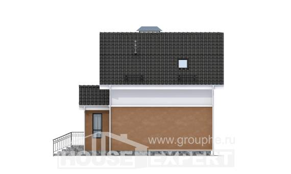 070-001-L Two Story House Plans with mansard, best house Building Plan