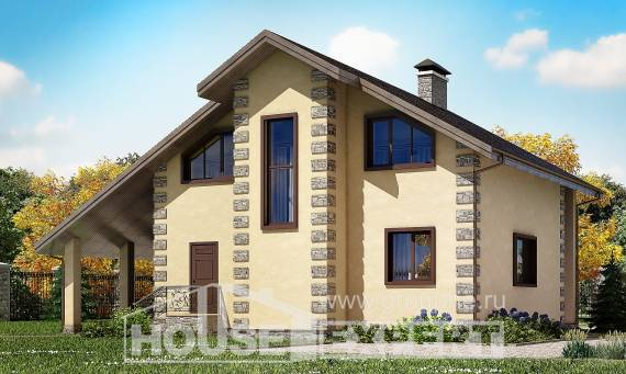 150-003-R Two Story House Plans with garage under, compact Blueprints of House Plans
